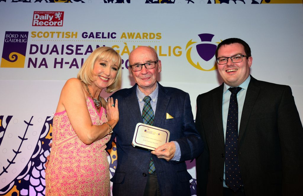 Lifetime Achievement honour for Dr Finlay Macleod at Scottish Gaelic Awards