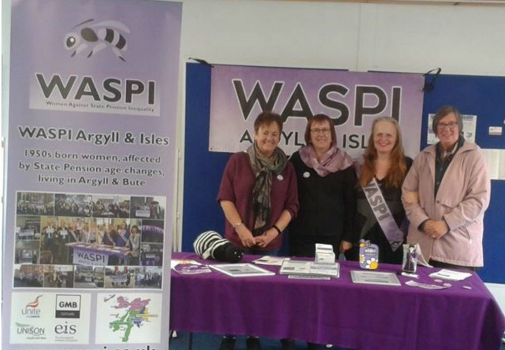 WASPI women hold drop-in event in Oban