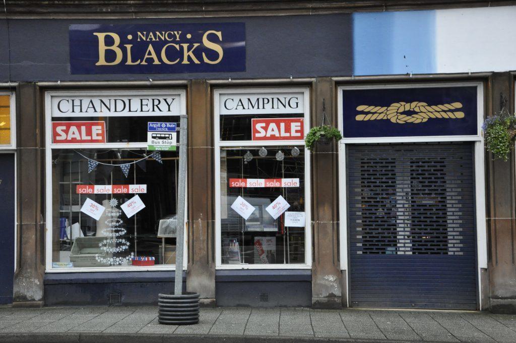 'Plummeting sales' closed Oban shop