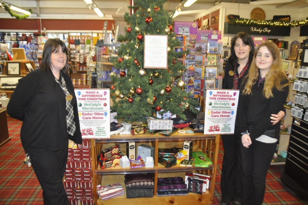 Oban store is collecting presents for the elderly
