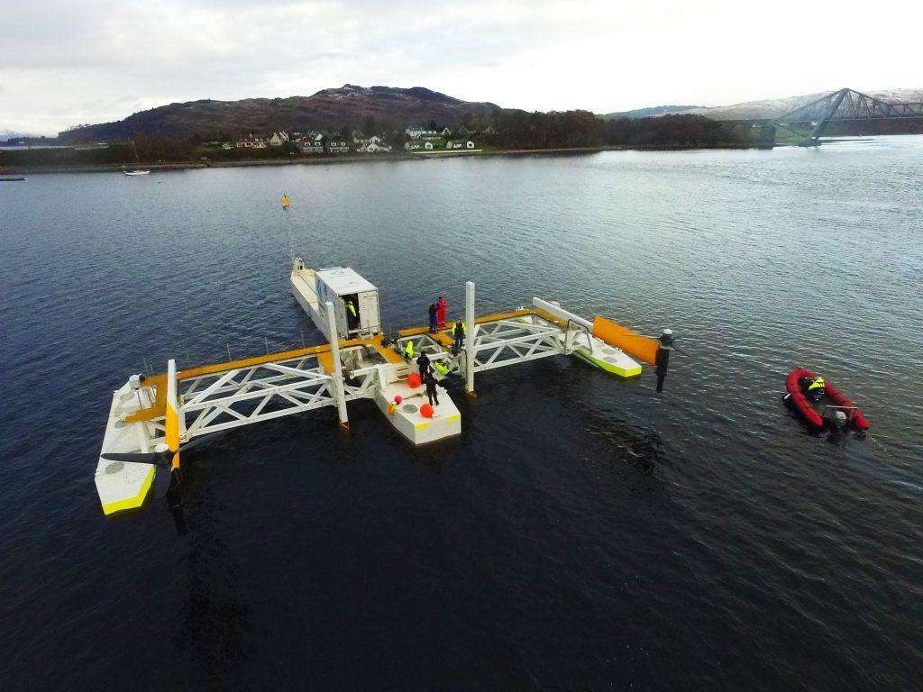 Tidal energy platform at Connel proving a success