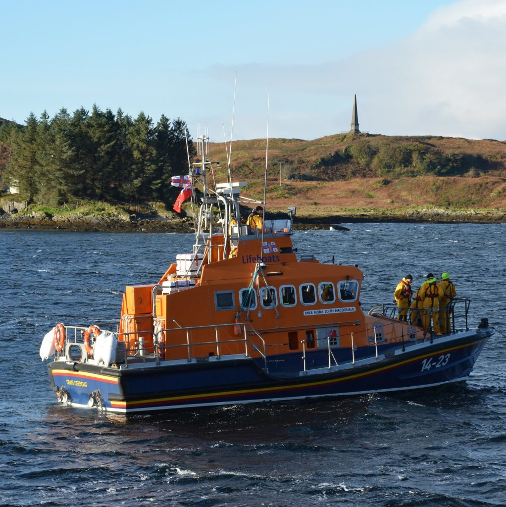 Oban lifeboat called out to help stranded yacht