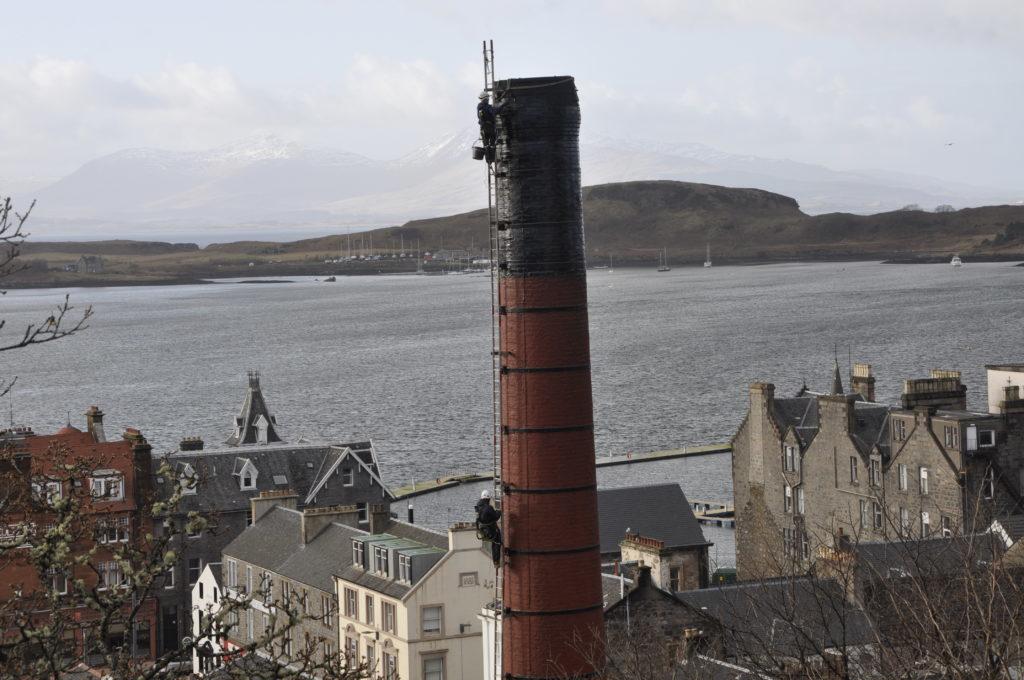 Bird's eye view from landmark chimney top
