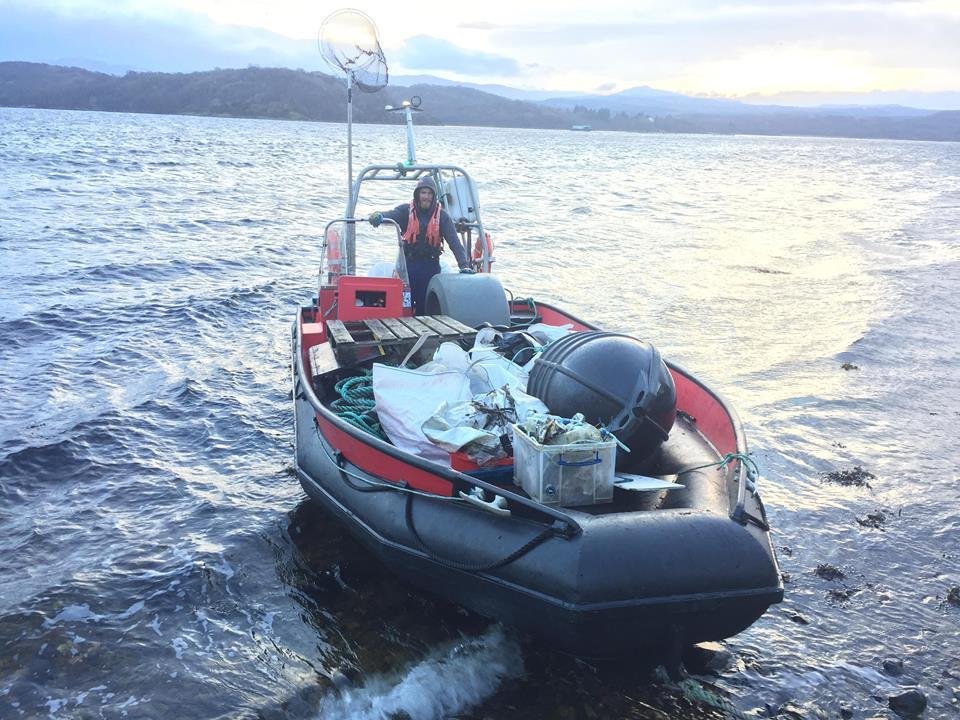 Loch Etive clear-up nets 80kg of rubbish