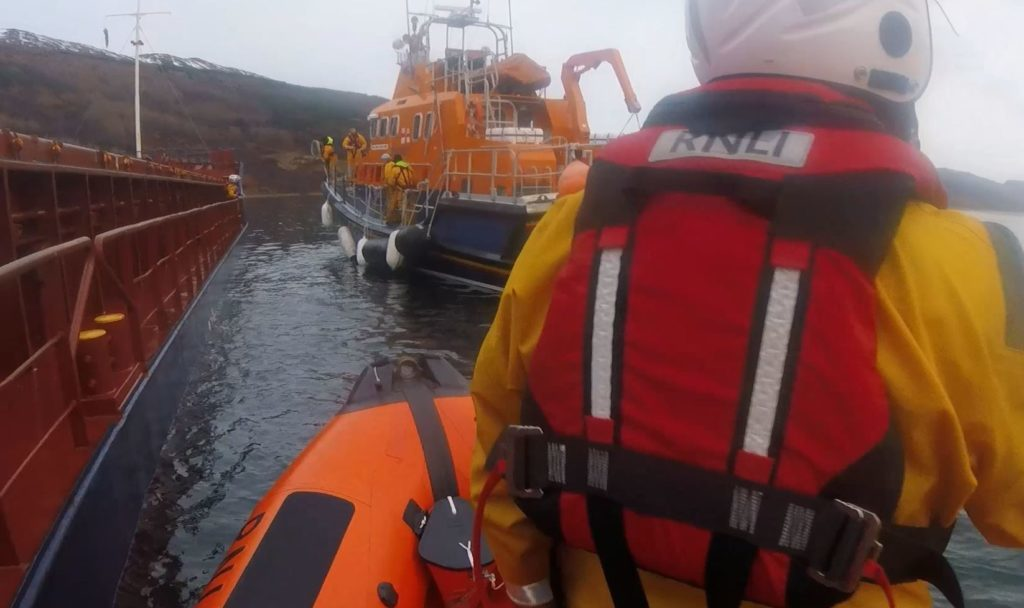 Mallaig and Kyle lifeboats rescue stricken cargo vessel