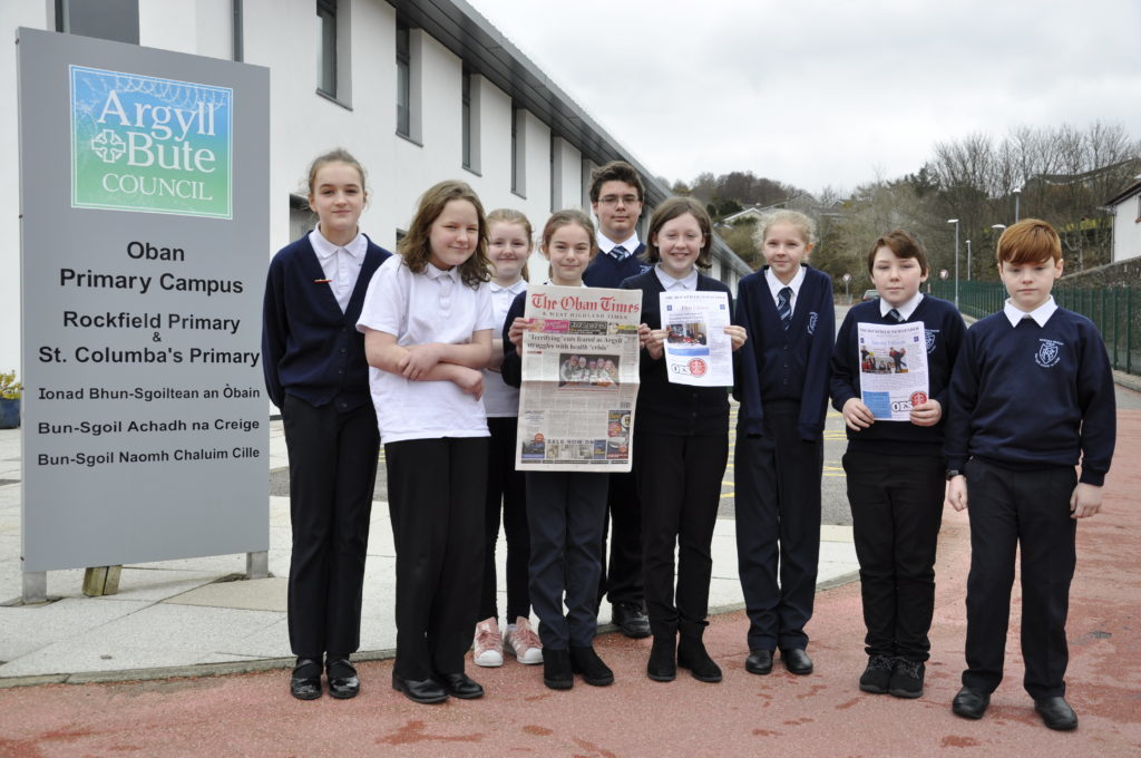 Oban's Rockfield pupils create their own newspaper
