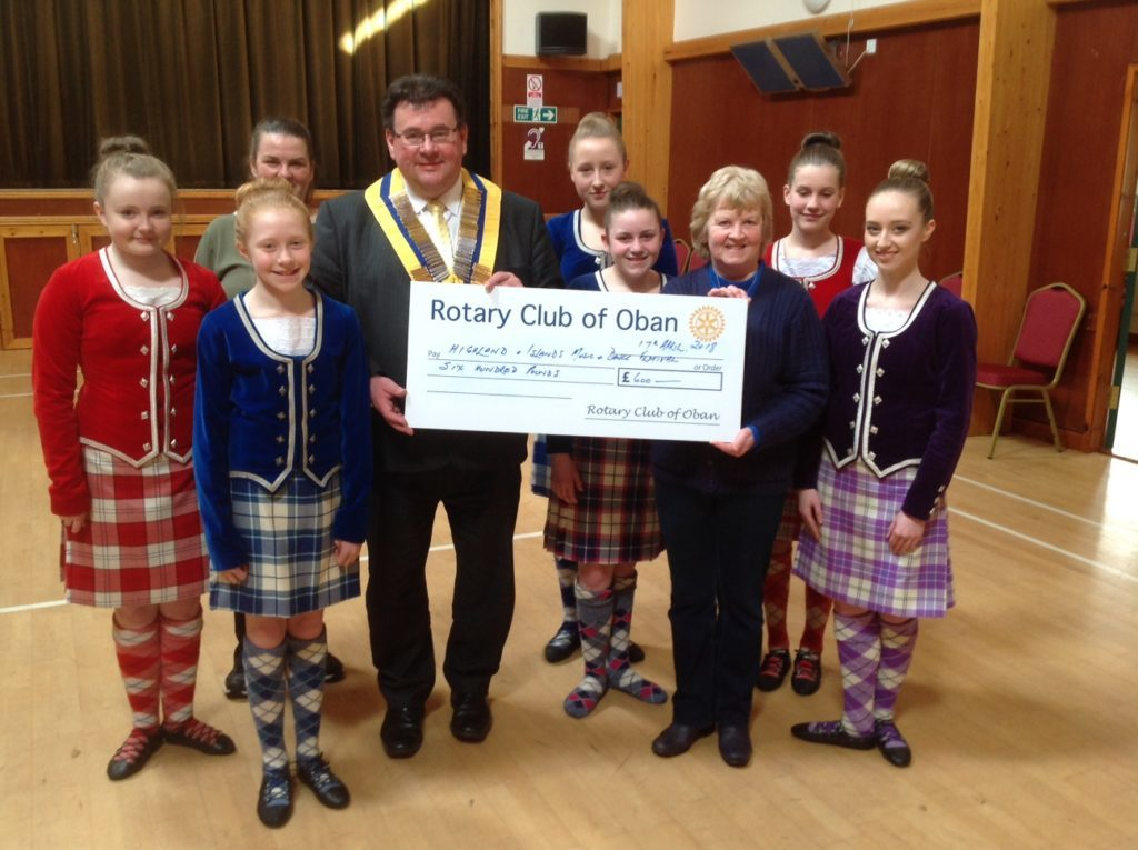Oban Rotary backs festival with funding