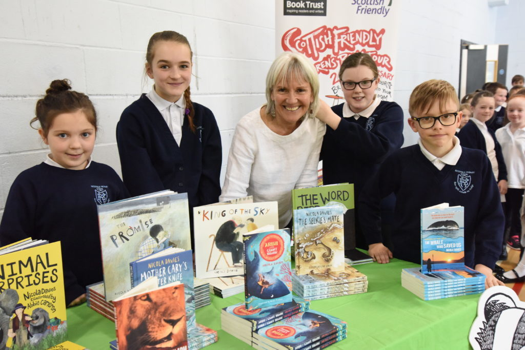 Author Nicola Davies visits schools in Oban and beyond