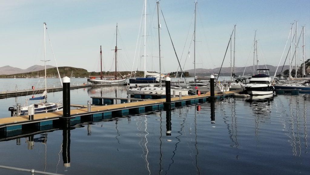 Oban's pontoons bring 2,000 people a week to town