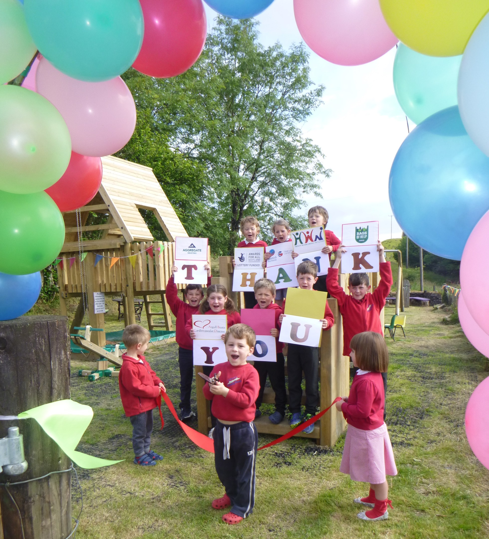 Lismore pupils say thanks for new playpark