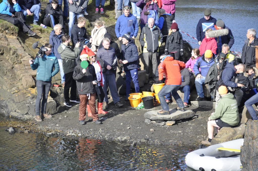 Hundreds attend annual World Stone Skimming Championships
