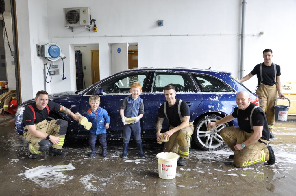 All hands to the pumps for charity car wash