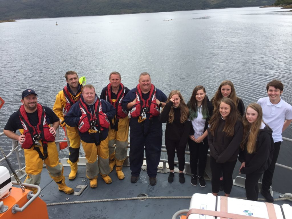 Tobermory lifeboat visits high school
