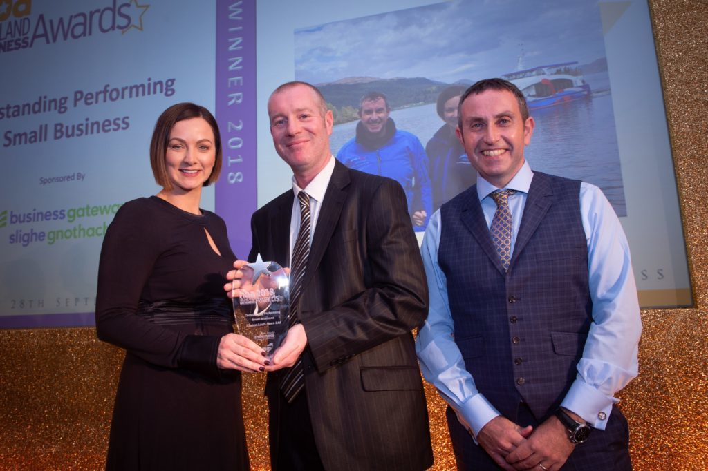 Fort Augustus business cruises home with award