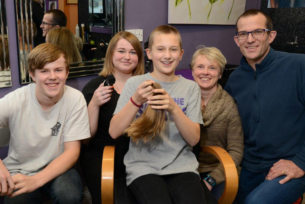 Brave Megan raises £1,300 for charity