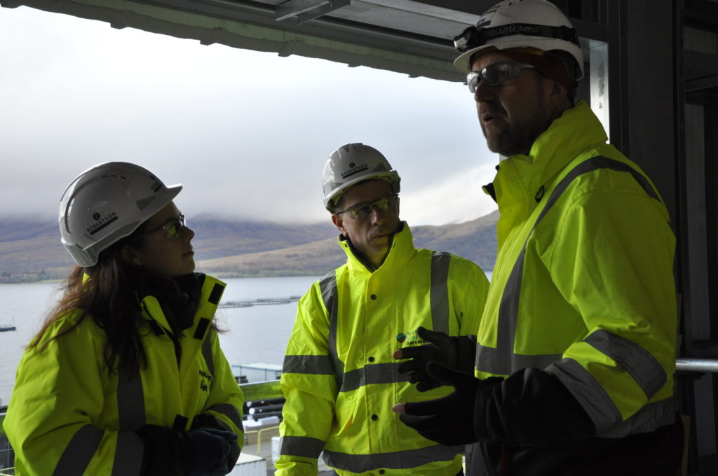 Minister visits new £48m freshwater salmon hatchery
