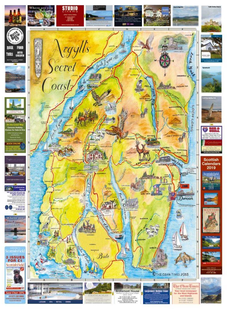 Argylls Secret Coast & Bute Maps 2018
