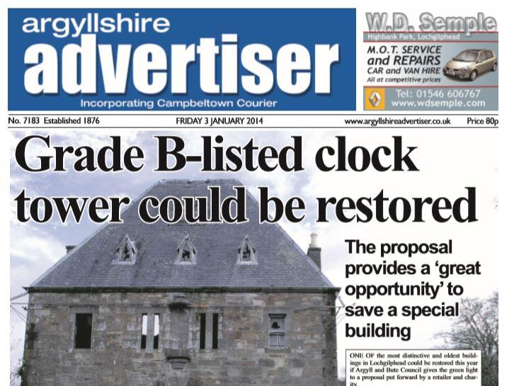 Argyllshire Advertiser PDF Archive 2014   The Oban Times