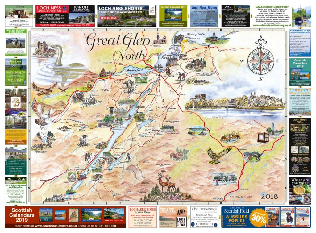 Great Glen North & South Maps 2018