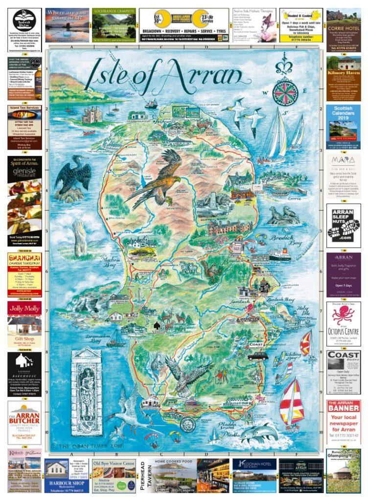 Isle of Arran & Arran Towns Maps 2018
