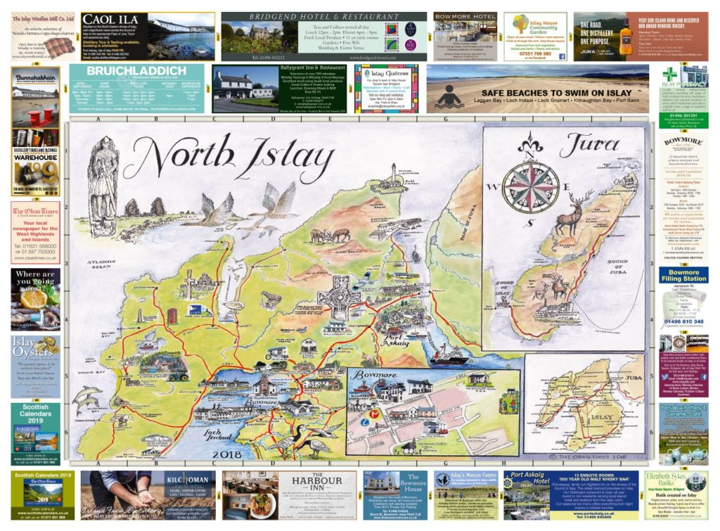 Isle of Islay North & South Maps 2018