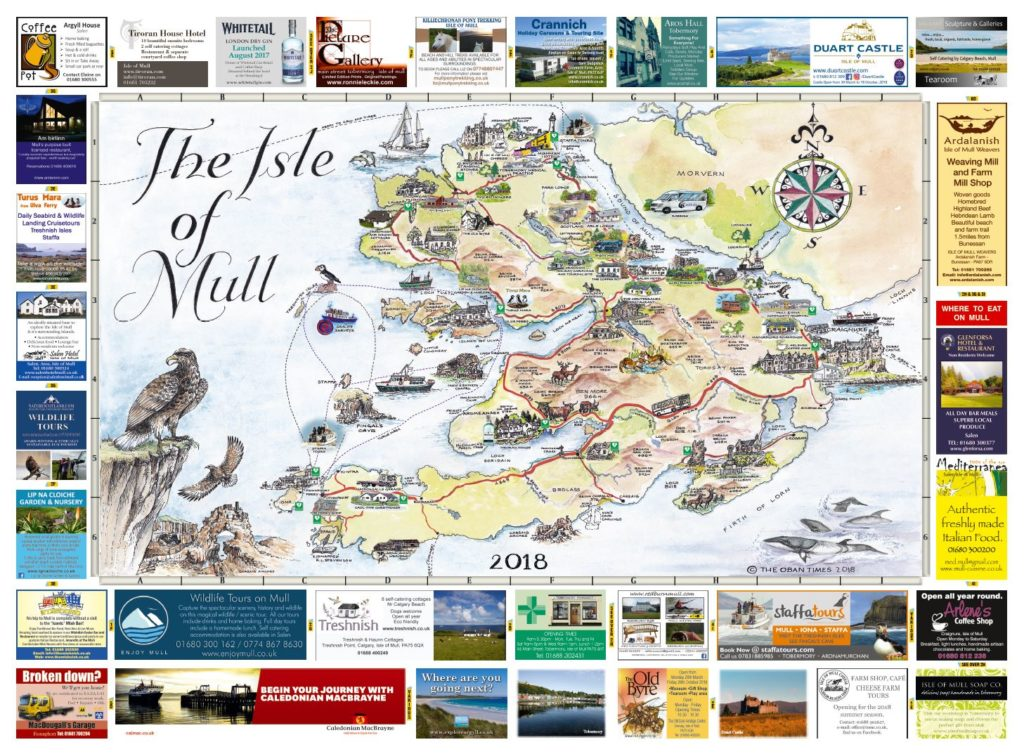 Isle of Mull & Mull and Iona Maps 2018
