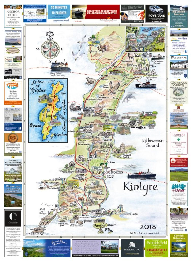 Campbeltown & Kintyre Maps 2018