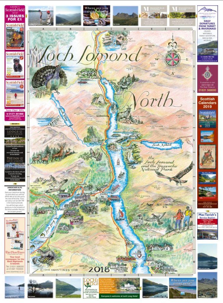 Loch Lomond North & South Maps 2018