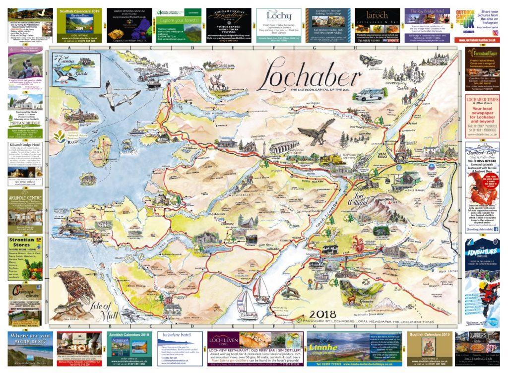 Lochaber Scotland Map.Fort William Lochaber Maps 2018 The Oban Times