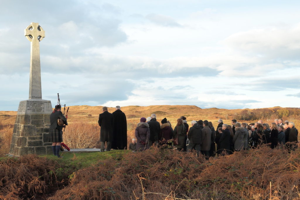Arisaig pays its respects to war dead