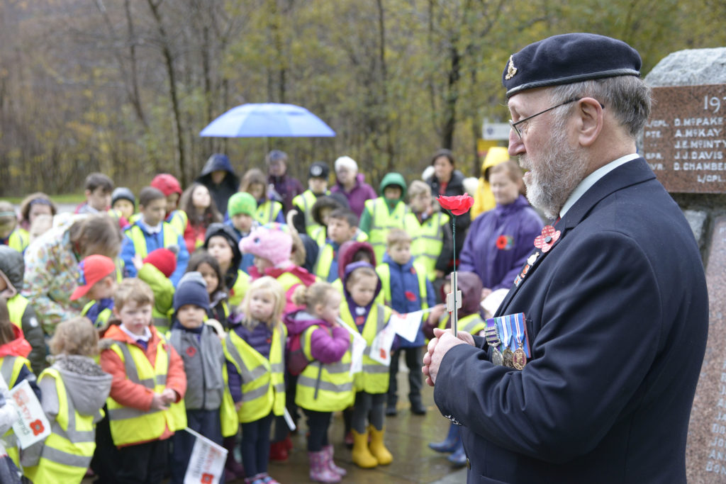 Kinlochleven youngsters remember The Fallen