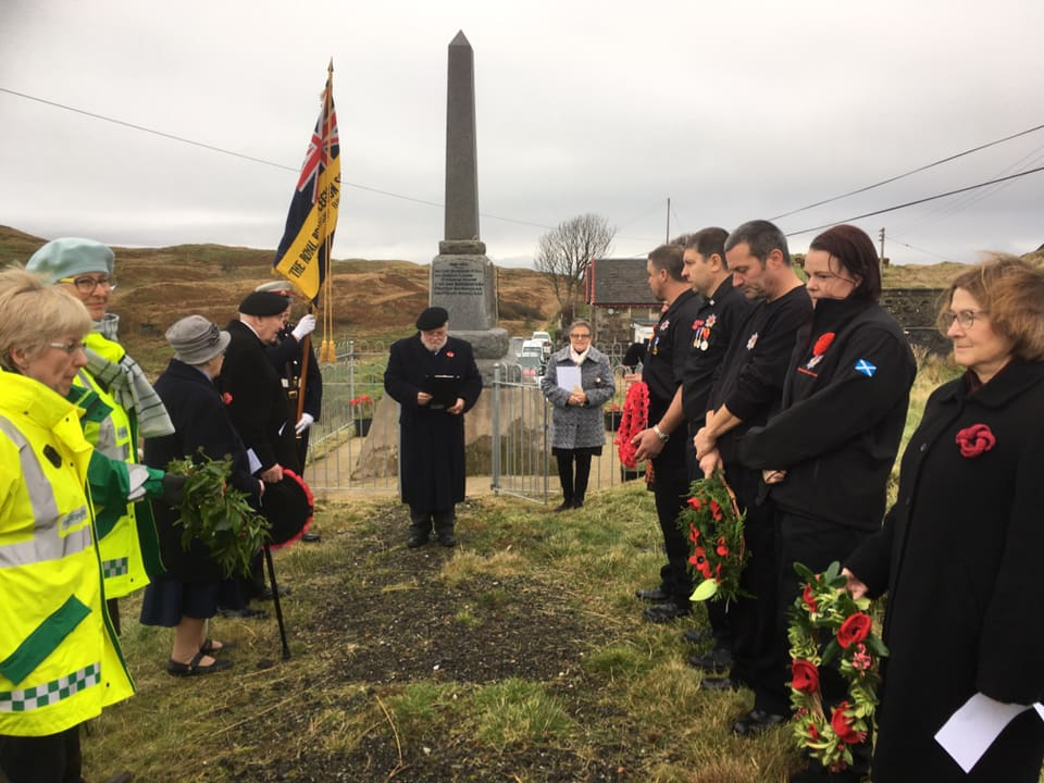 Island communities support acts of remembrance