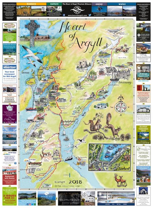 Mid Argyll Map 2018