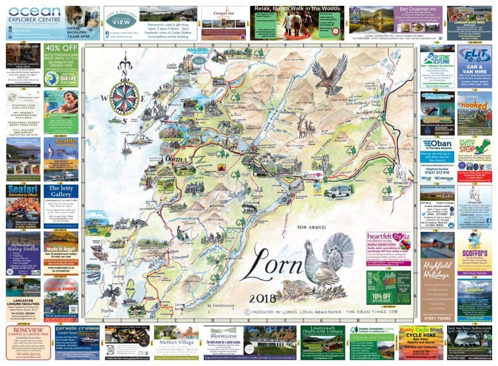 Oban & Lorn Map 2018