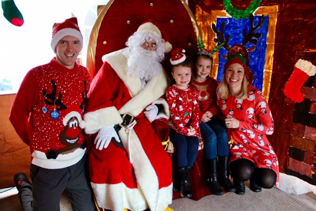 Kyle RNLI welcomes Santa to lifeboat station