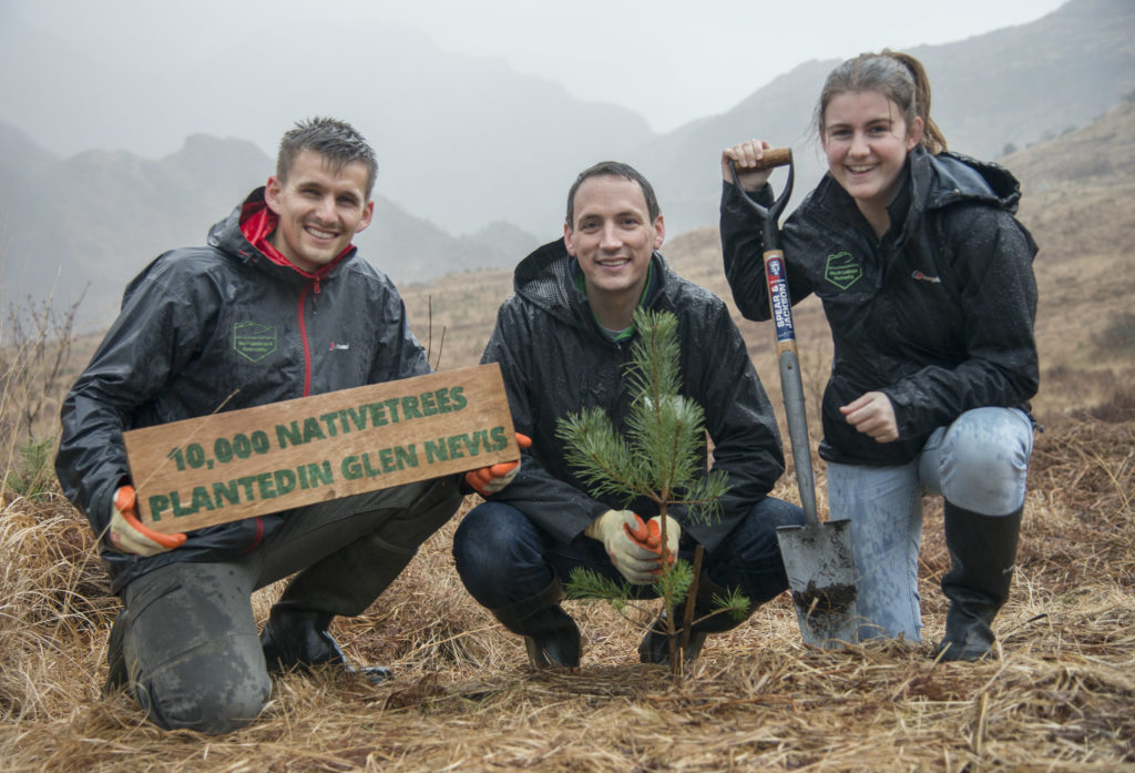 Green-fingered Gary helps Glen Nevis get 10,000th tree