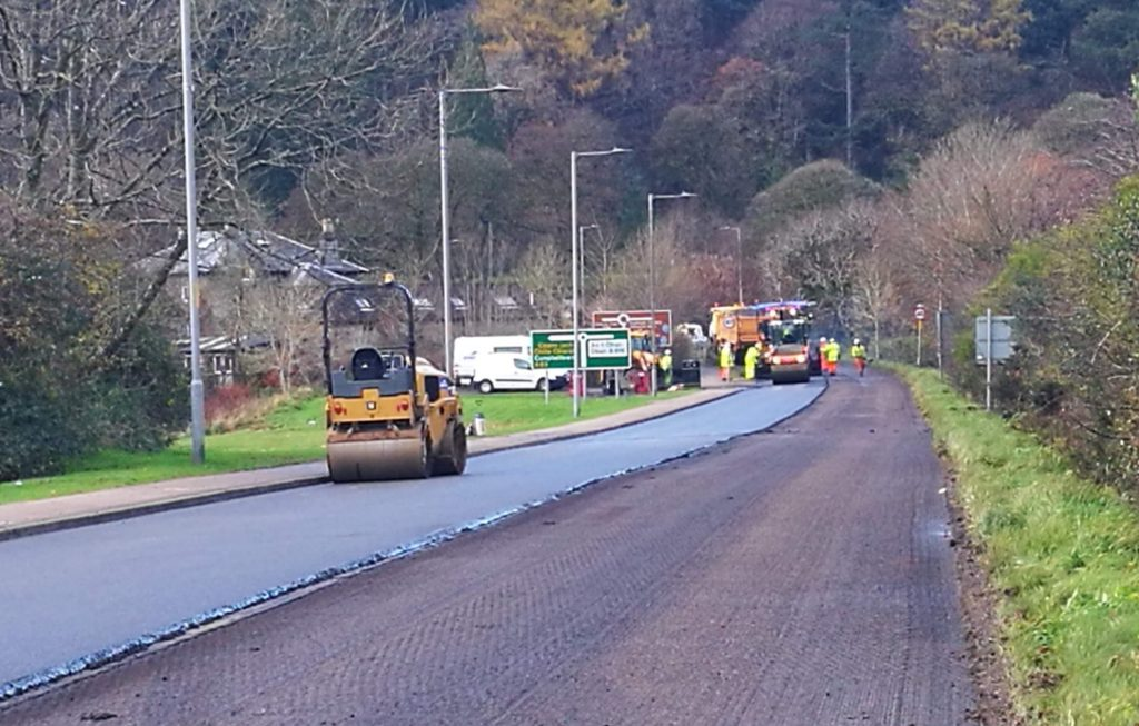 Argyll road network shows improvement