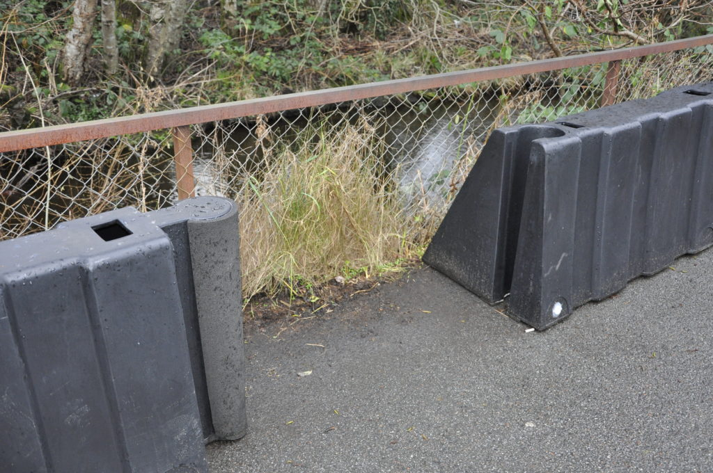 Shameful vandals rendered flood barrier 'useless'