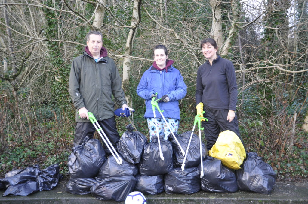 Litter picked from Tesco car park in aid of charity