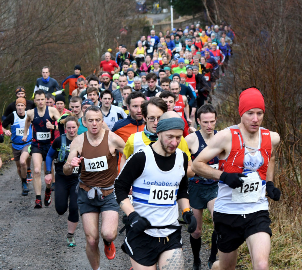 Runners shake off New Year celebrations in Aonach Mor race