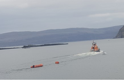 Vessel towed back to port after Portree lifeboat's first call of 2019