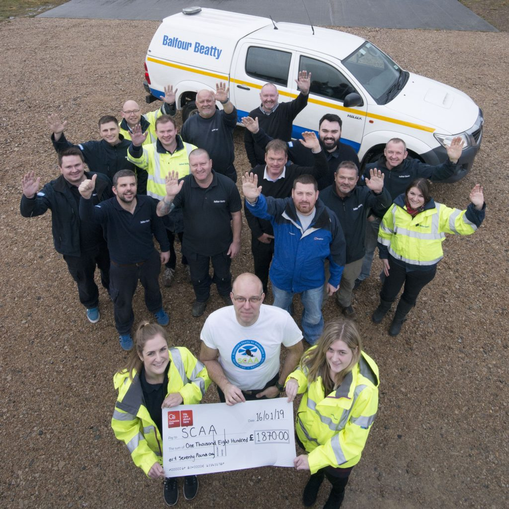 Air ambulance service gets cash boost from construction firm