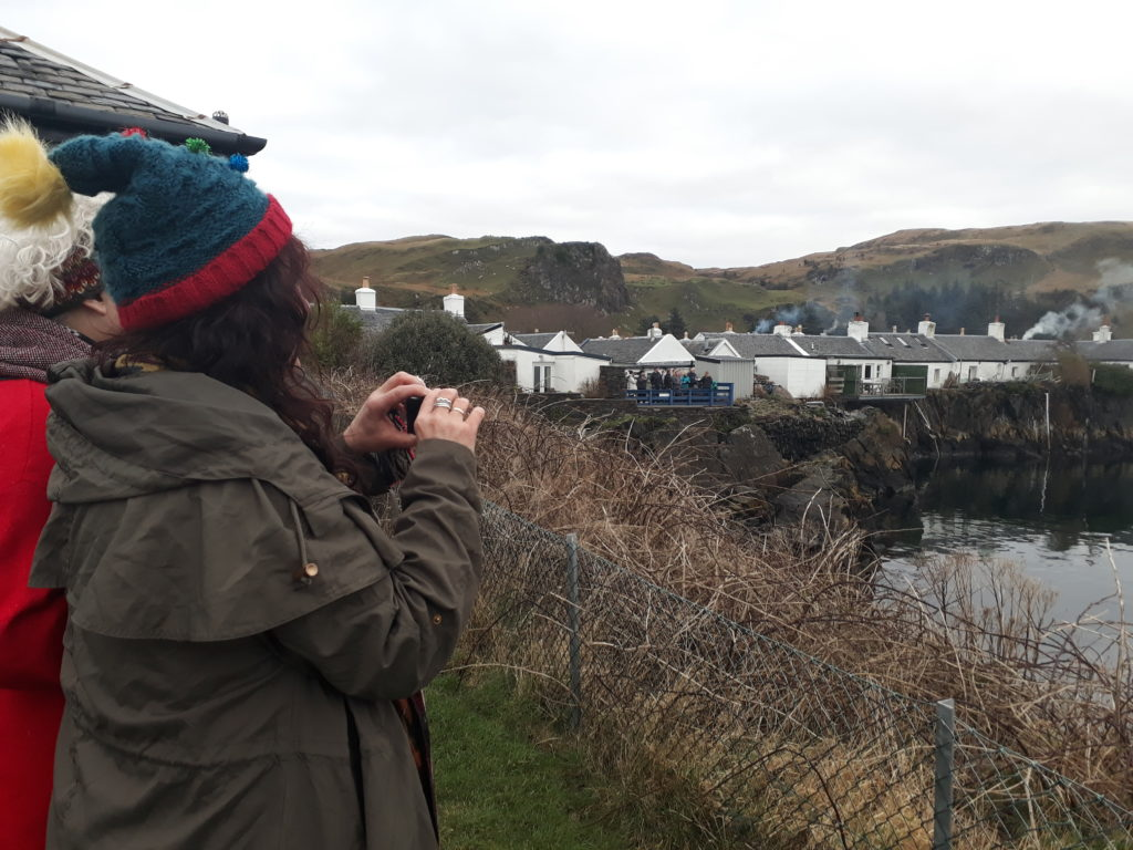 New Year 'first finner' at Seil quarry pool