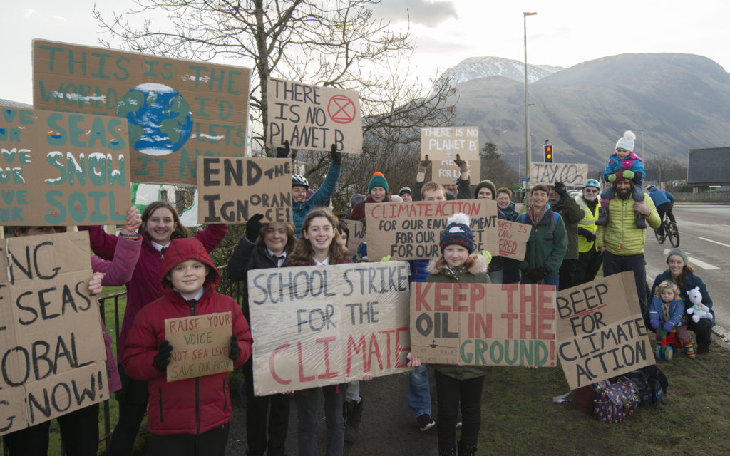 Lochaber youngsters join national schools strike for climate action