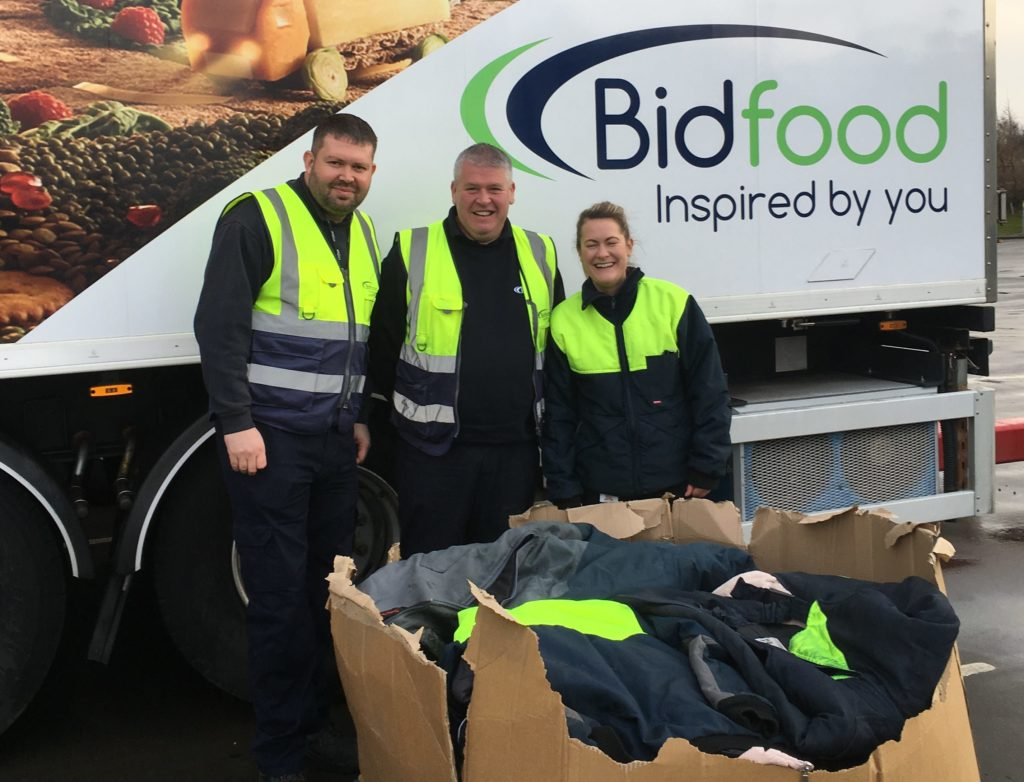 Bidfood Scotland launches campaign to keep homeless warm