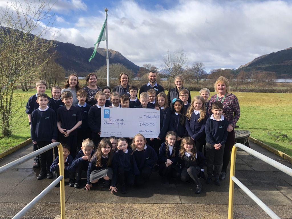Glencoe school benefits from Co-op cash boost