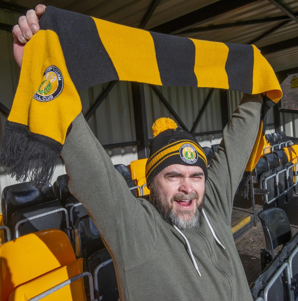 WATCH: Virtual football manager Loki Doki visits Fort William FC