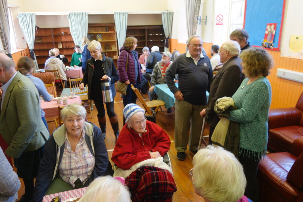 Tea and cakes at Ardchattan attracts a crowd