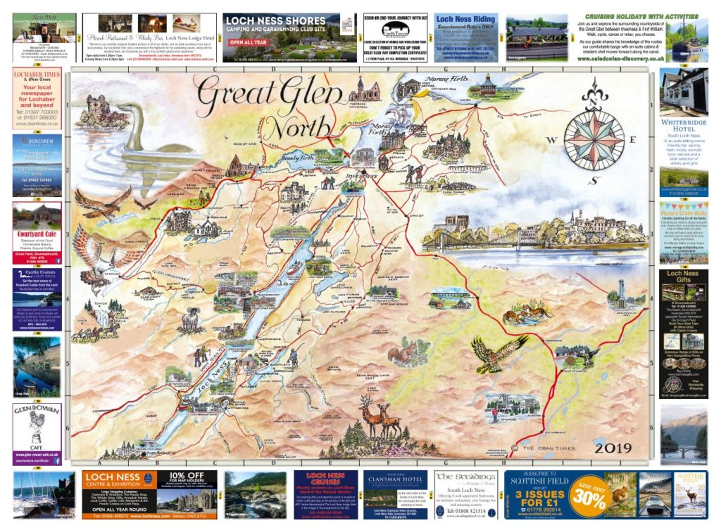 Great Glen North & South Maps 2019