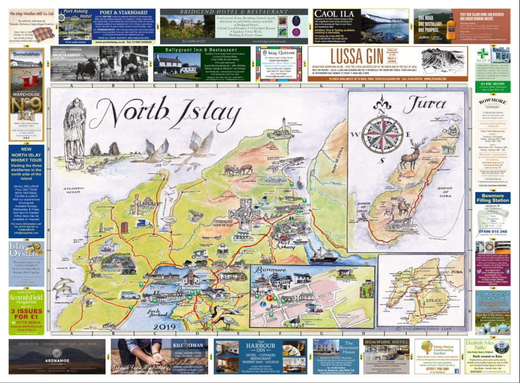 Isle of Islay North & South Maps 2019